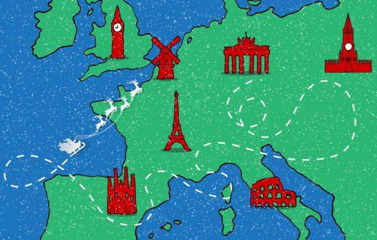So feiert Europa Weihnachten
